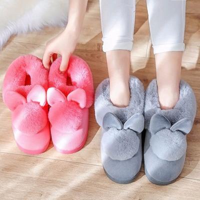 棉拖鞋女保暖厚底月子冬季情侣韩版家居家可爱毛毛室内全包跟棉鞋