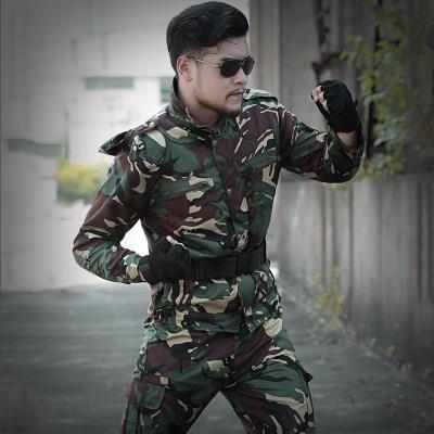 户外猎人迷彩服春季套装男战狼特种兵军人衣服作战服军迷野战军装
