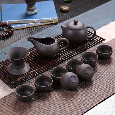 套装简易上水便携包茶盘茶盘茶海杯全半功夫茶具泡茶潮汕荼具旋转