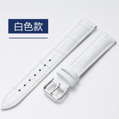 不锈钢6色银针扣小牛皮真皮表带 男女针扣代用